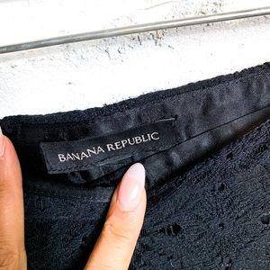 Banana Republic Skirts - Banana Republic Black Lace Pencil Skirt